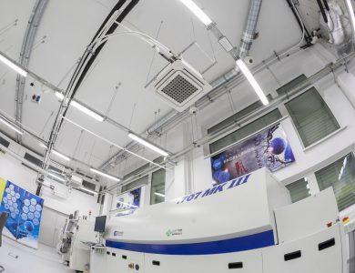 Wnętrze hali produkcyjnej