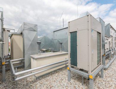 Wygląd instalacji klimatyzacyjnej na dachu